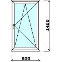 Окно 800мм*1400мм (с установкой)