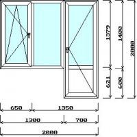 Балконная пара с открывным окном (с установкой)