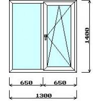 Окно 1300мм*1400мм (с установкой)