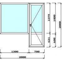 Балконная пара с глухим окном (с установкой)