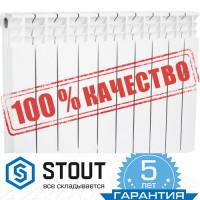 Секционный биметалл радиатор STOUT Space 500/100 12 сек.